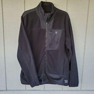 Hurley for the Buckle black fleece jacket LG